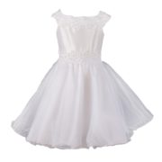 Princess Dress with Lace and Pearls