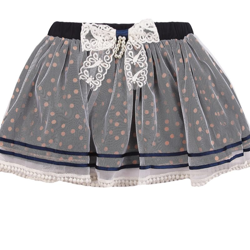 Sweet Polka Dot Skirt with Bow