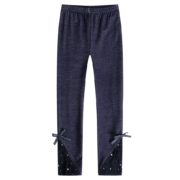 Pants with Lacy Ankles and Bow
