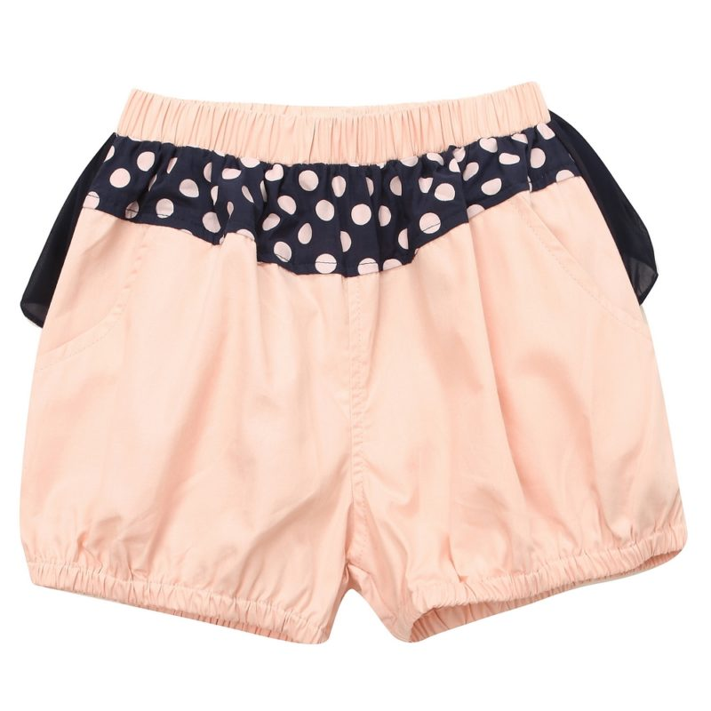 Shorts with Lace and Bow Accent
