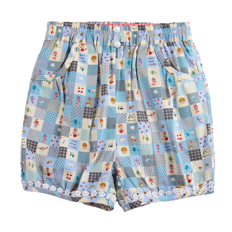 Home Sweet Home Quilt-style Shorts