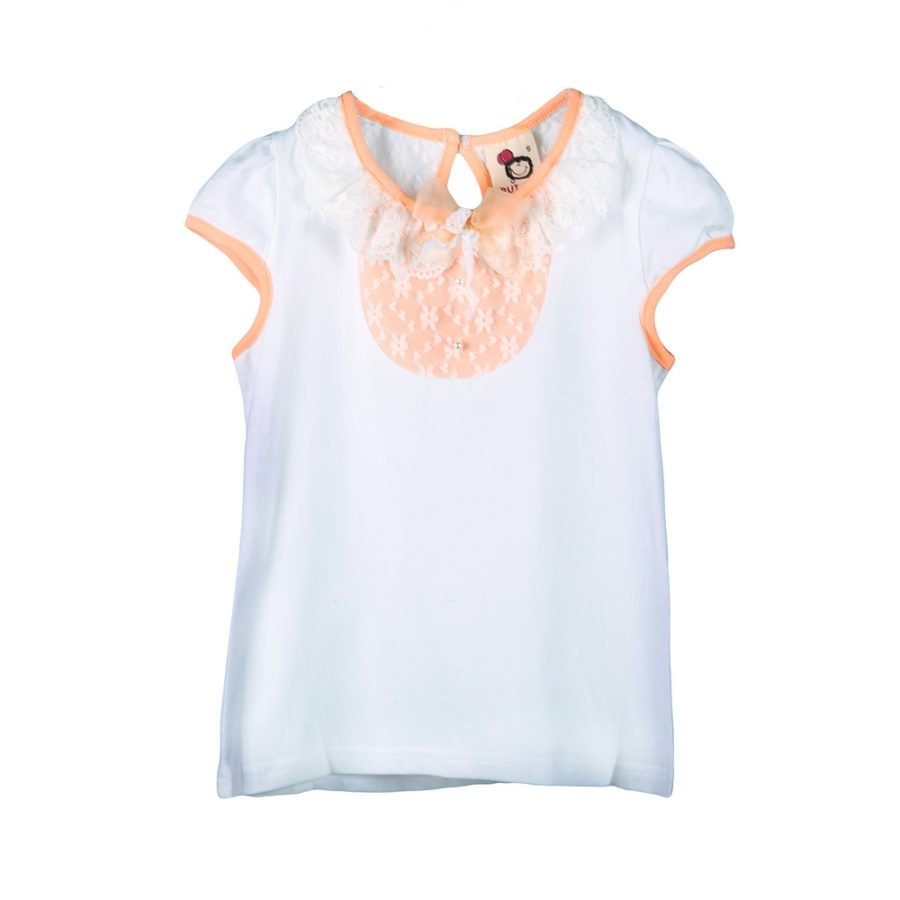 Lace Accent Collar with Bow Top