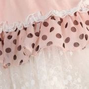 Multi-layered Skirt with Lace, Bow & Pearl Accents