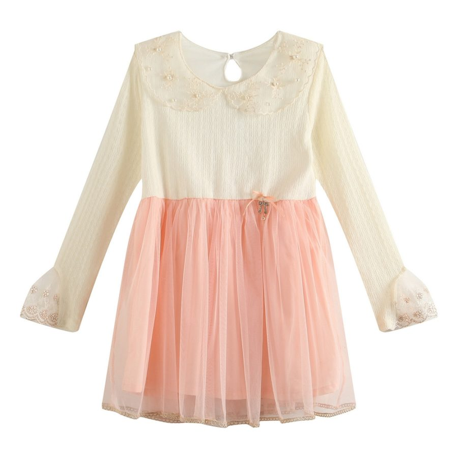 Gauzy Top Tulle Skirt Pearl Accents