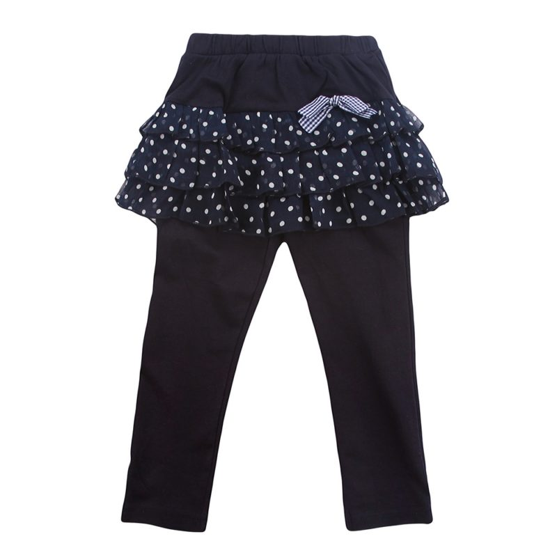 Midnight Blue Lacy Skirt Pants with Bow