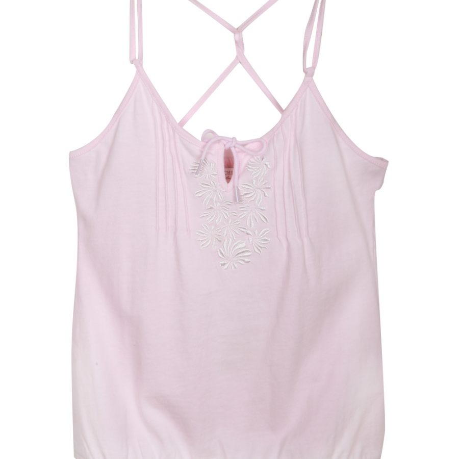 Pink Embroidered Tanktop