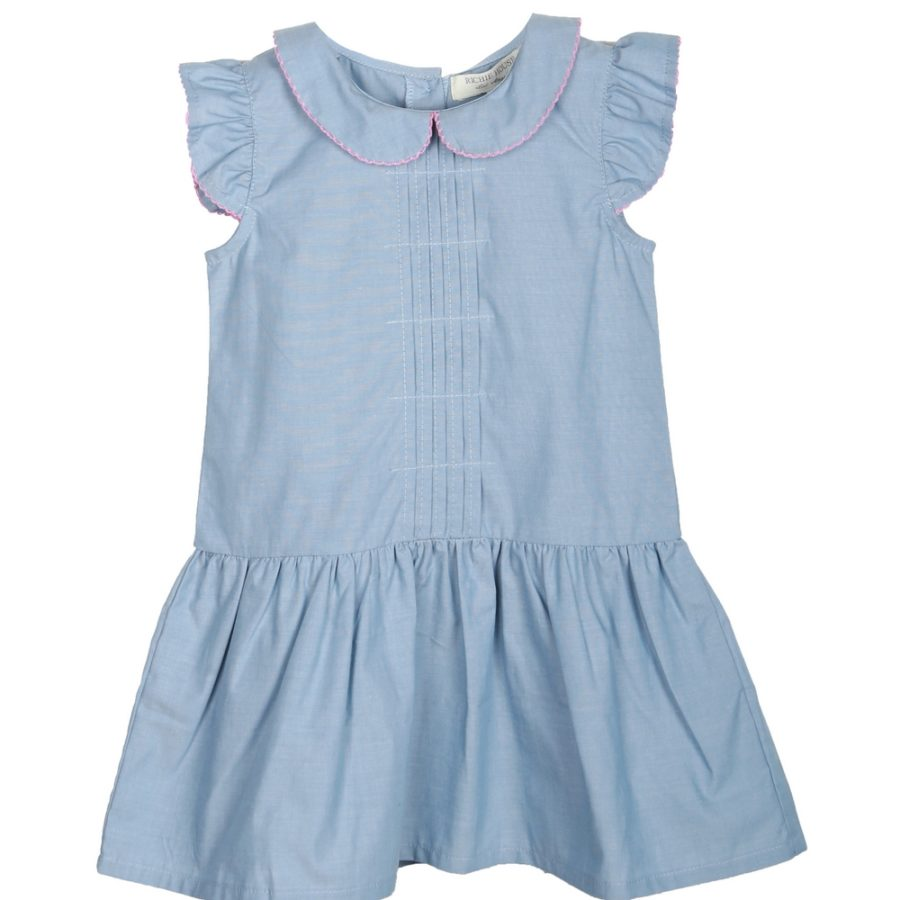 Country Dress with Contrast Trim