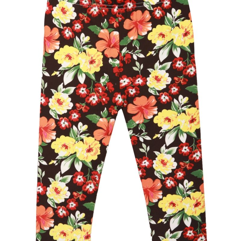 Dark Floral Stretch Pants
