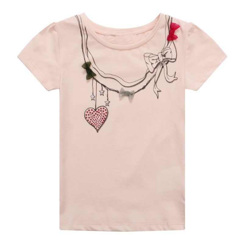 Tee with Styled Necklace and Bows