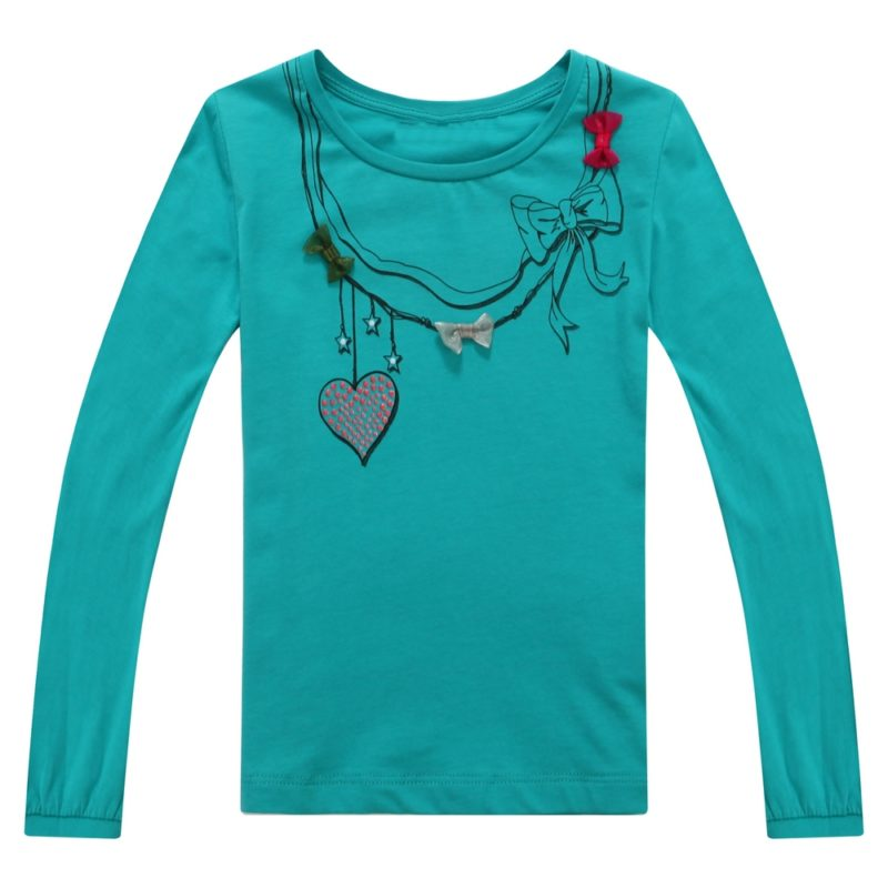 Long-sleeved Top with Styled Necklace and Bows