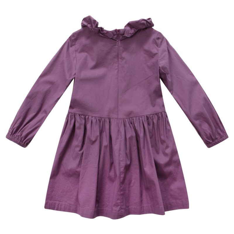 Dress with Ruffled Collar