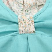 Light Blue Dress with Floral Elements