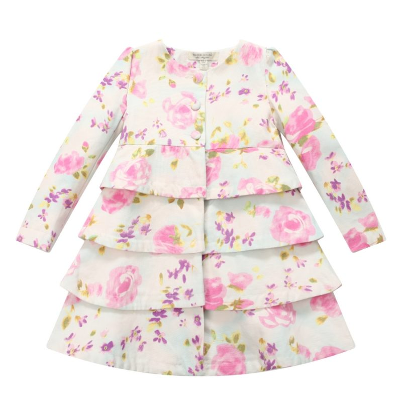 Floral Tiered Dress Coat