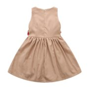 Tan Dress with Bows