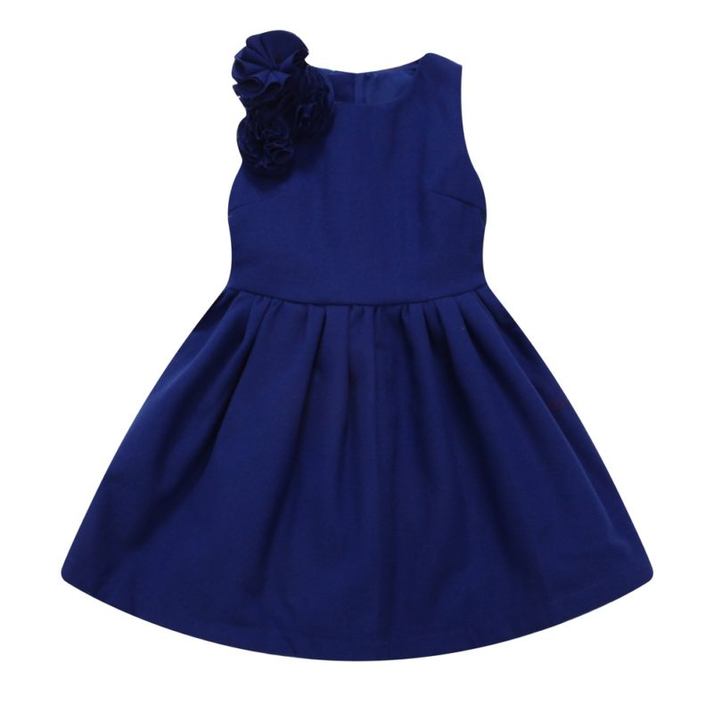Elegant Dress with Shoulder Ruffles