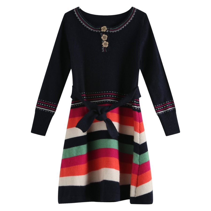 Striped Medium Sweater Dress