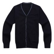 Cardigan with V-neck and Straight Pockets