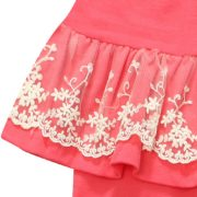 Pants with Lace Accented Skirt