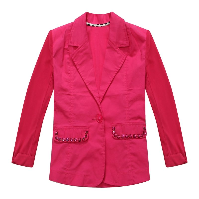 Jacket with Matching Rhinestone Accented Pockets