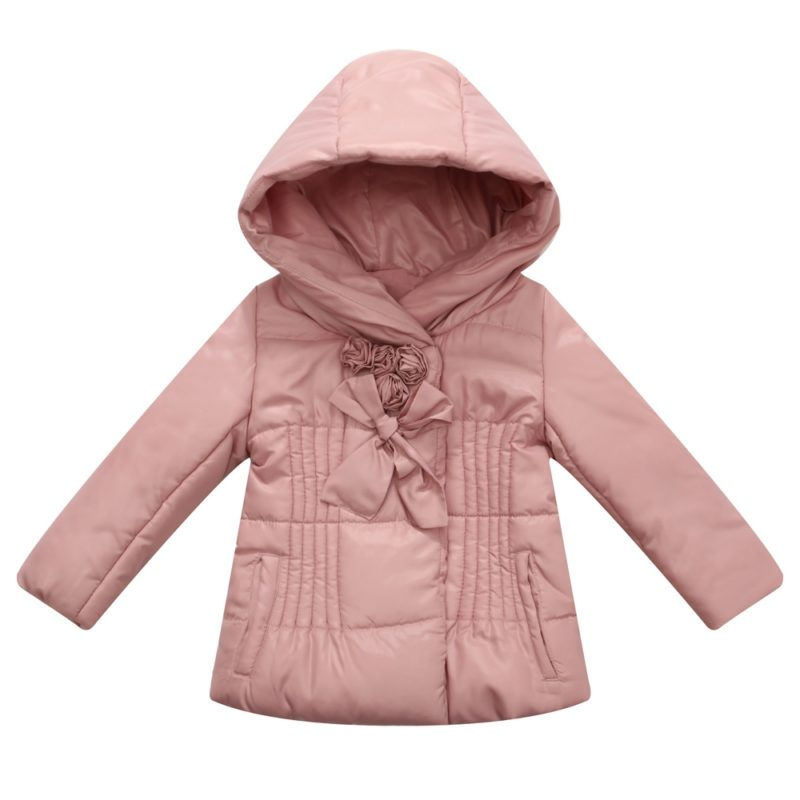 Padded Jacket with Rosette Accents