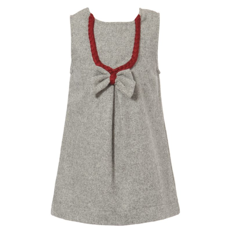 Dress with Crimson Stylized Necklace