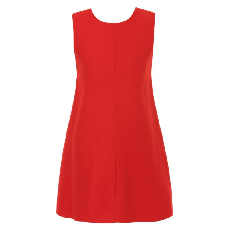 Fashion Dress with Contrasted Zip Tape