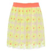 2 colors flower sequins embroideried charming skirt