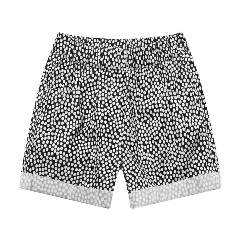 relaxed fit short pants with dot print