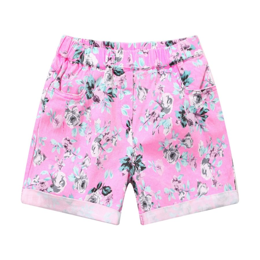 casual short pants with all over floral print