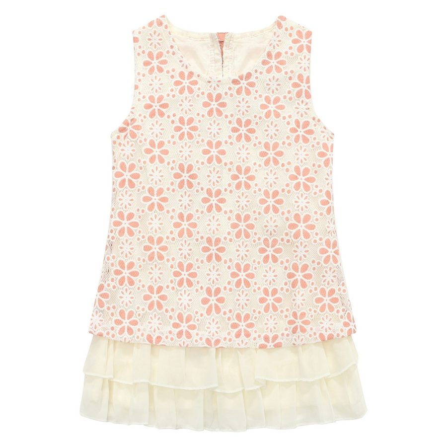 charming dress with all over Jacquard flower