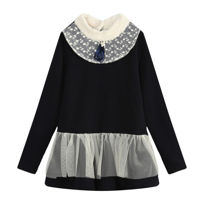 elegamt long top with bow and lace