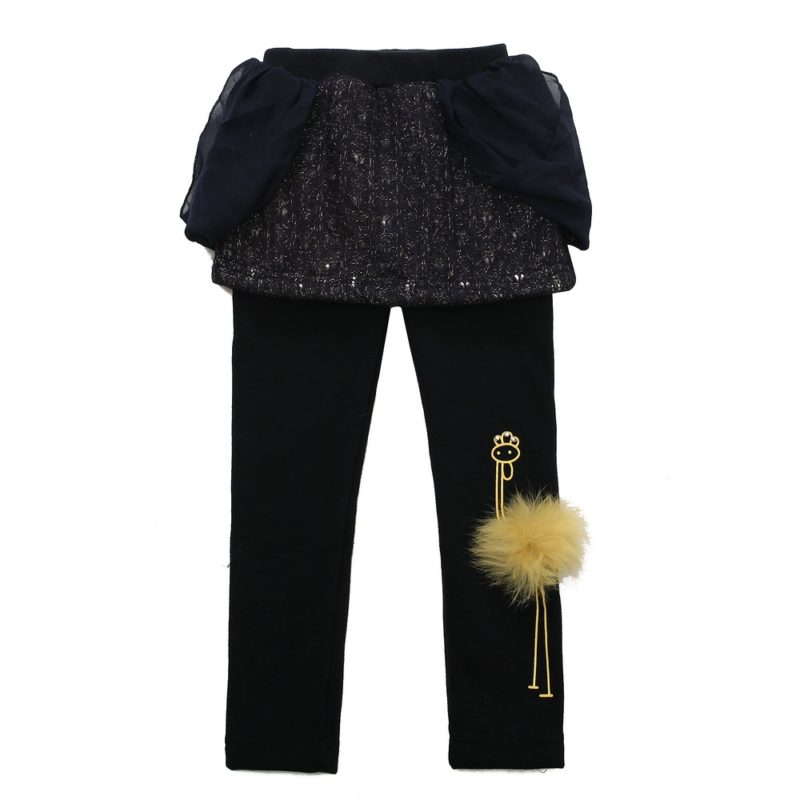 cute skirt with leggings with ostrich print