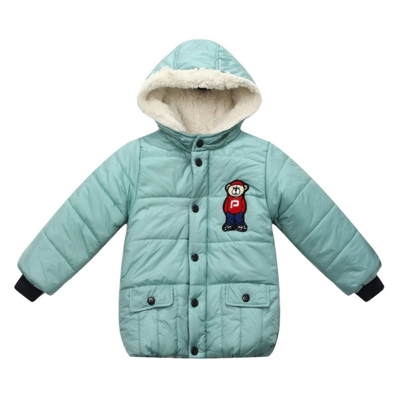 Padding Jacket with Contrasting Hood and Sleeve