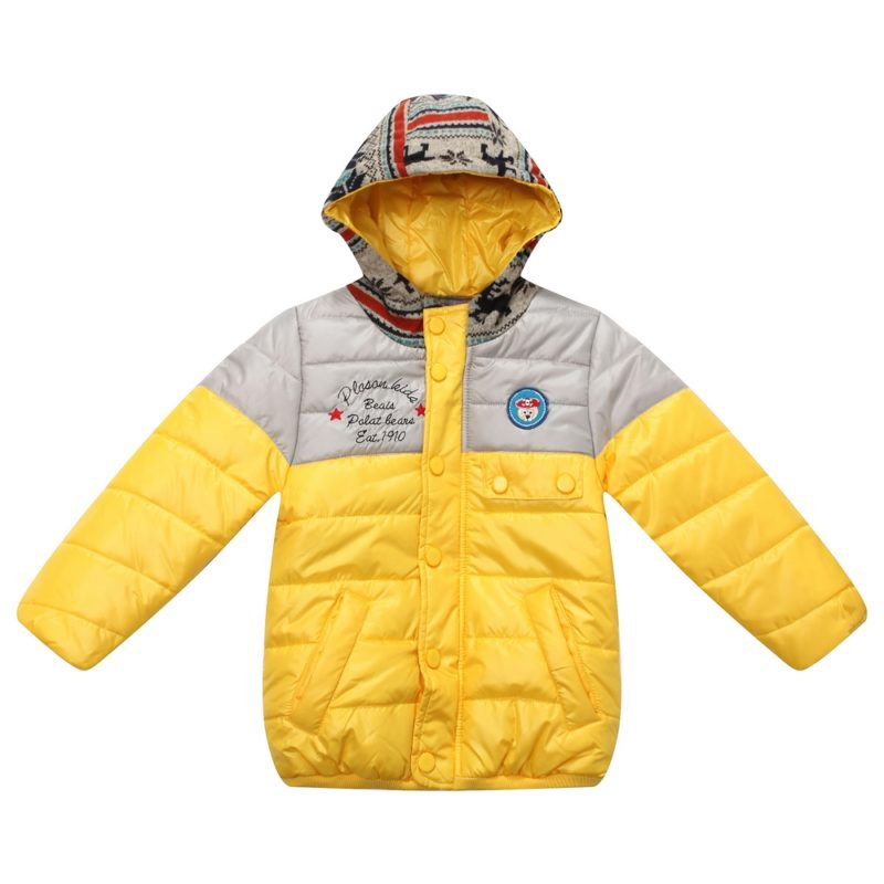 Padding Jacket with Printed Hood