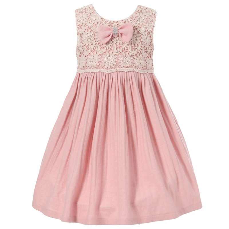 Cute Dress with Lace and Bow