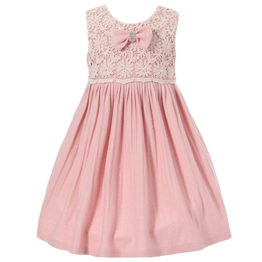 cute dress with lace and bow richie house