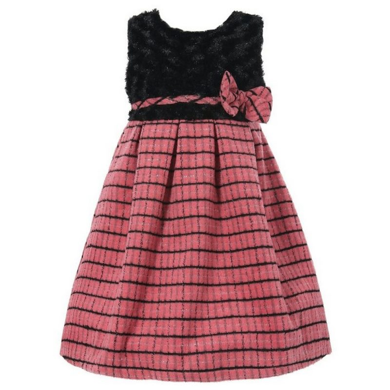 Lined Elegant Dress with Bow