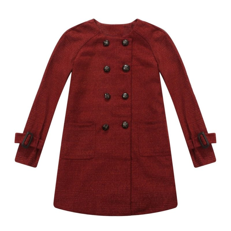 Double-Brested Overcoat with Lovely Square Pockets
