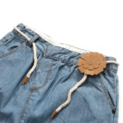 Bright Jeans with Paper Flower Belt