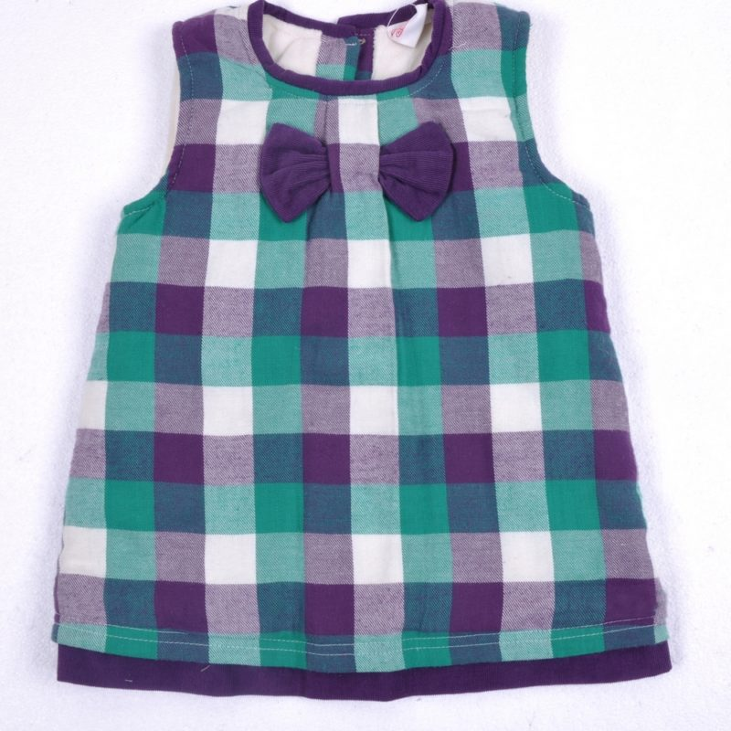 Checked Dress with Bow