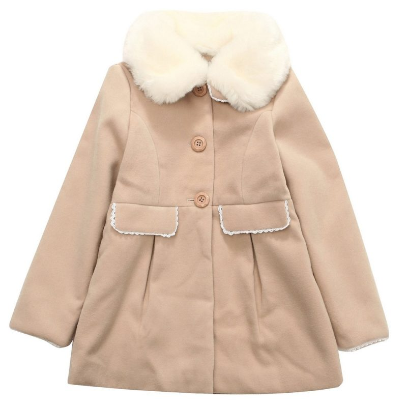Padding Jacket with Faux Fur Collar