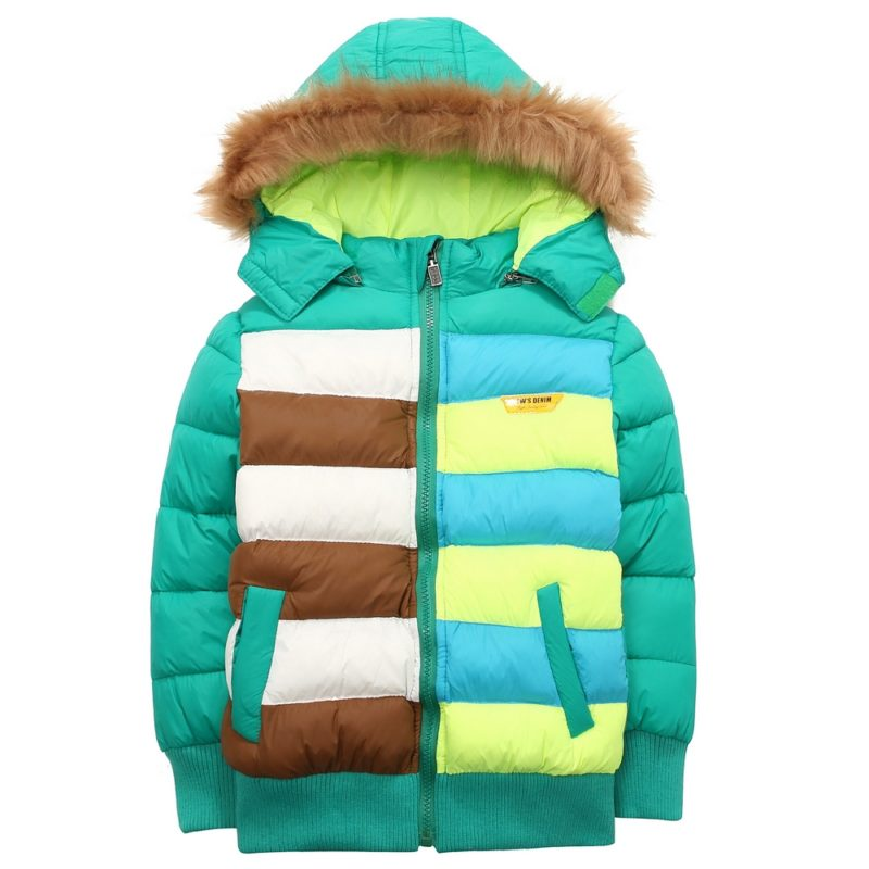 Padding Jacket in Colorful Stripes