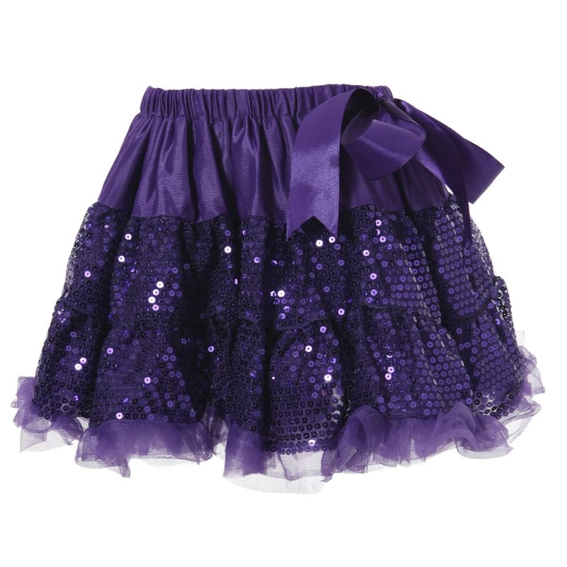One Size Dancing Skirt with Pearl Embroidery
