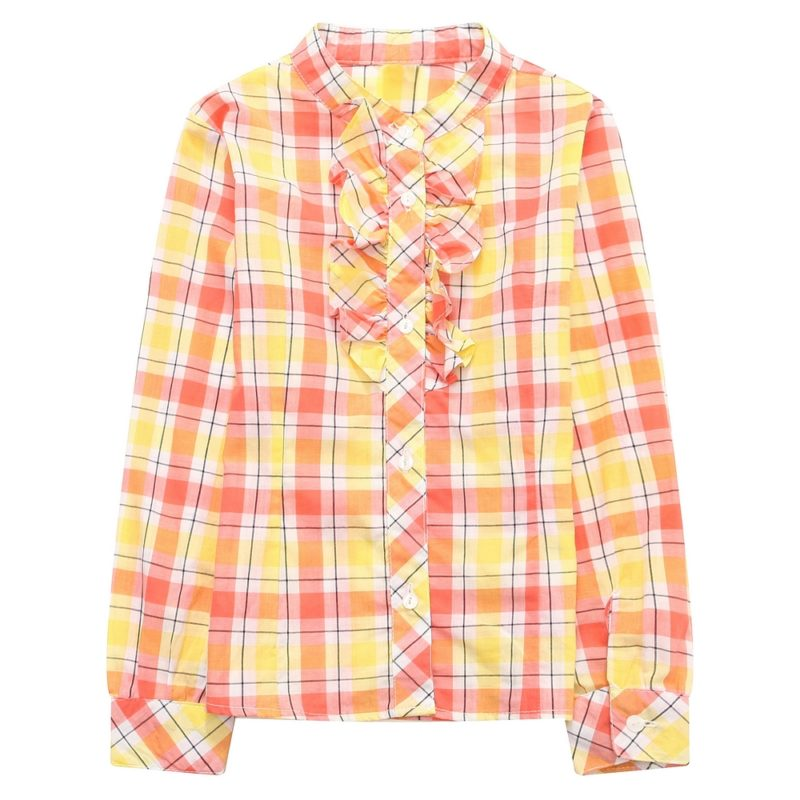 Classic Checked Shirt with Ruffles