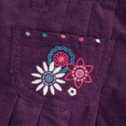Corduroy Skirts with Embroidery