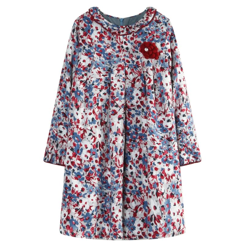 Flower Dress with Colorful Print