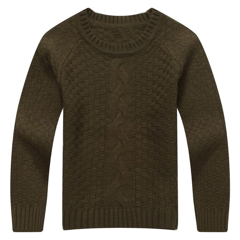 Classic Solid Color Sweater