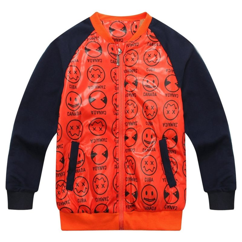 Jacket with Contrasting Sleeve