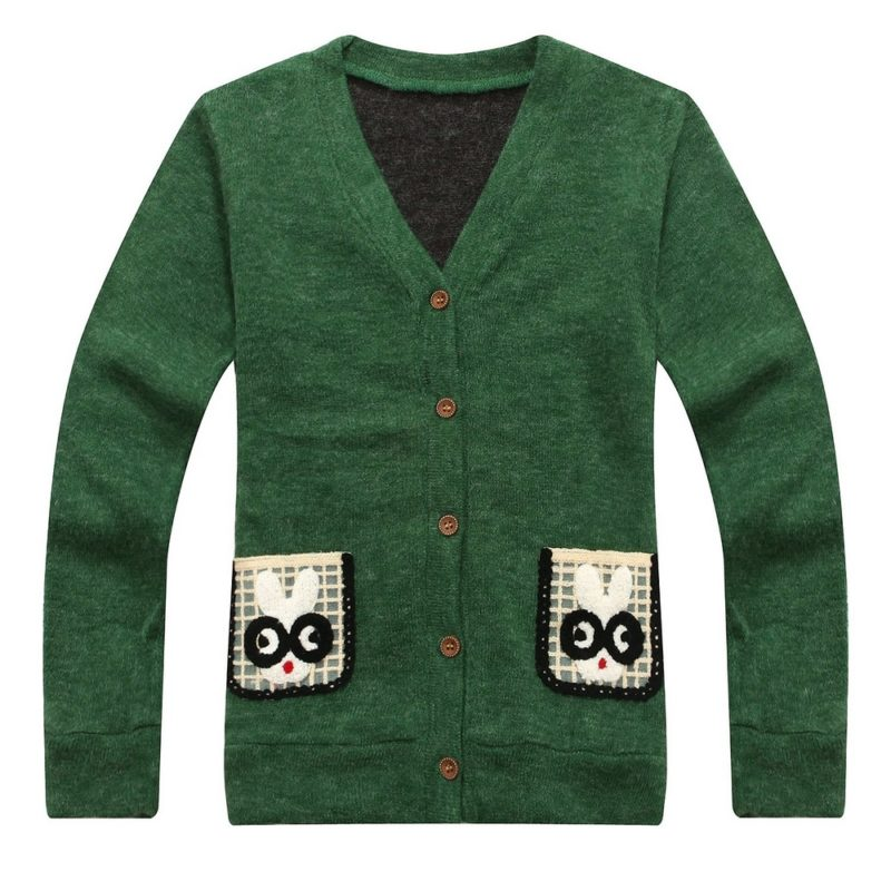 Handsome Cardigan with Rabbit Pockets
