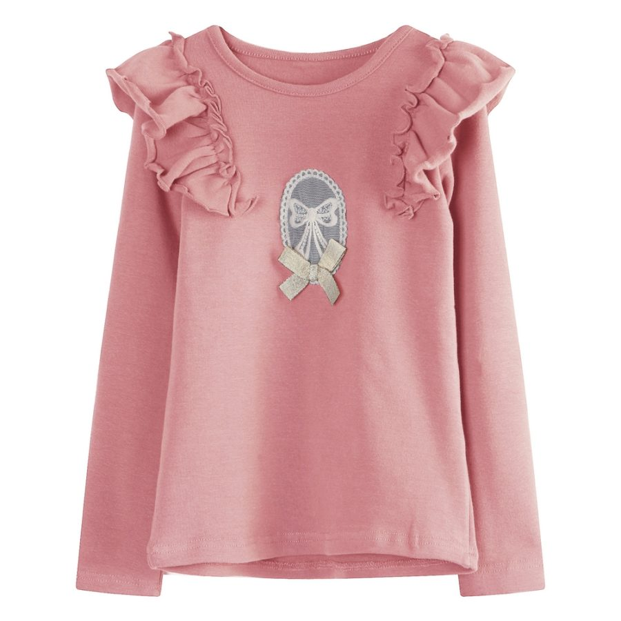 Warm T Shirt With Embroidery And Bow Richie House